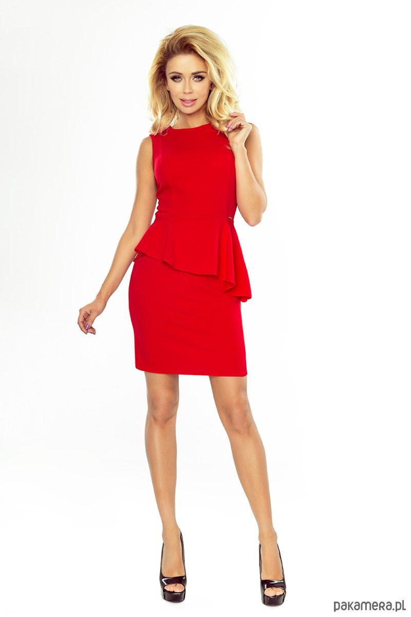 Sukienka wizytowa MADDY czerwona
