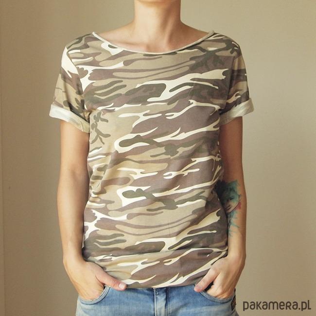 Tshirt wytarte moro Oversize S-XXL