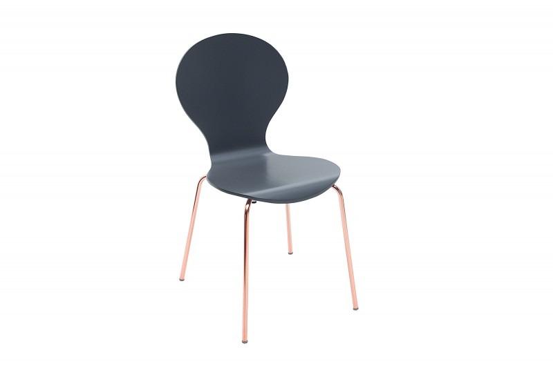 Zestaw krzeseł Ant Form szare miedź 4szt - Pakamera pl