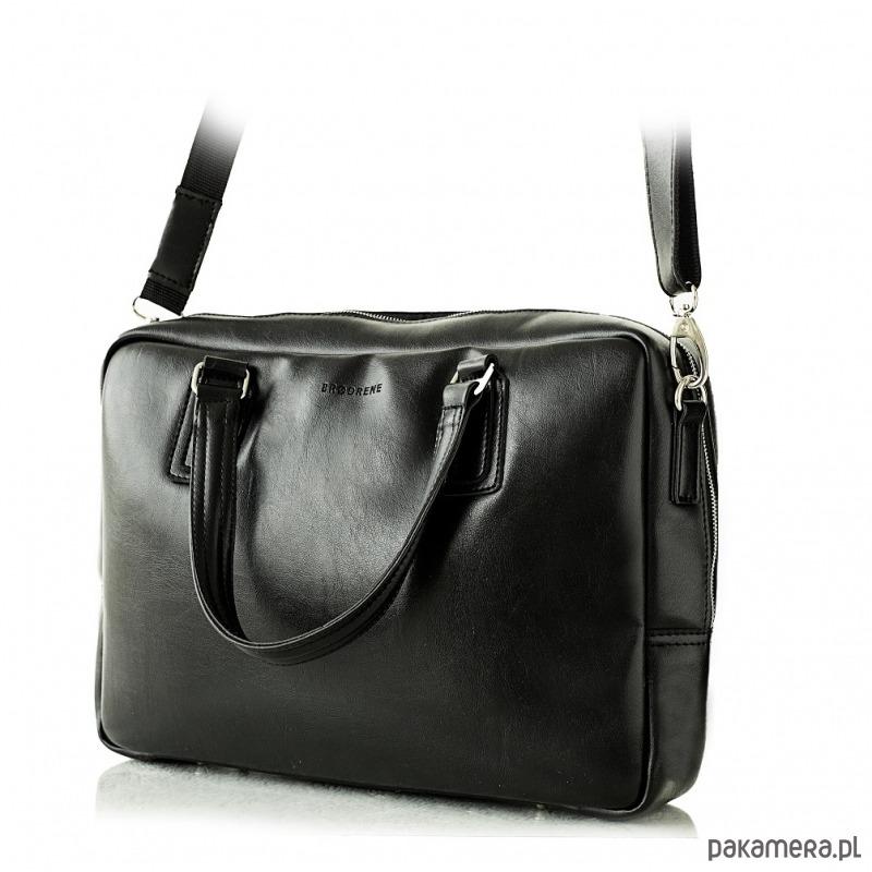 17dece5e5bf7f akcesoria - torby i nerki - męskie-Klasyczna czarna torba teczka męska na  ramię