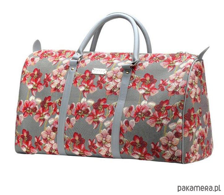 89b014d632800 Gobelinowa torba podróżno-sportowa Orchid - torby podróżne - Pakamera.pl