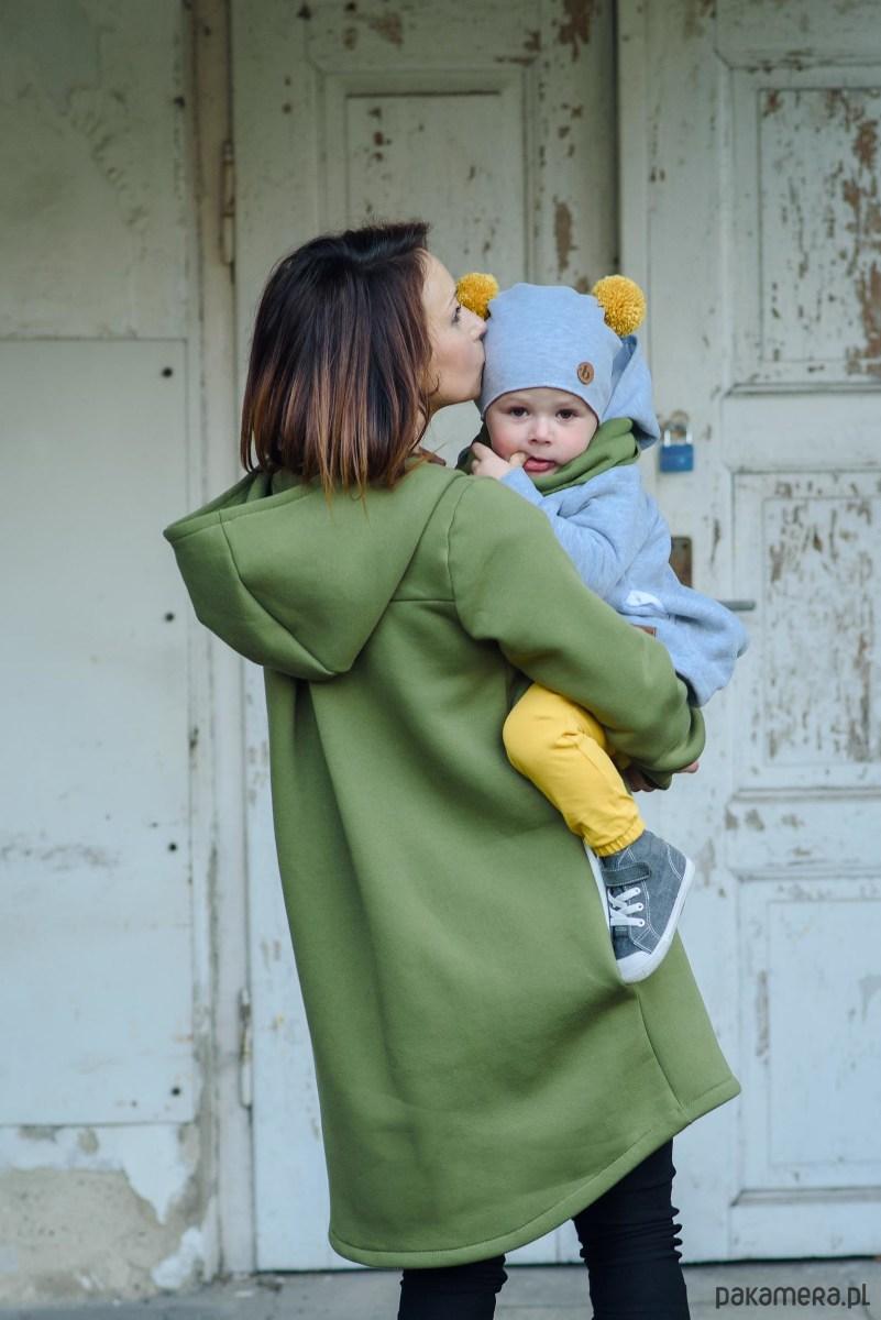 Płaszcz damski - oliwka