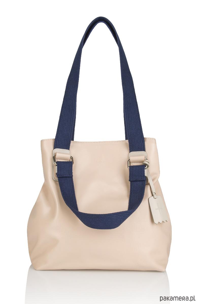 6d7883138862f torby na ramię - damskie-Skórzana torebka pasek parciany Alessia G-180