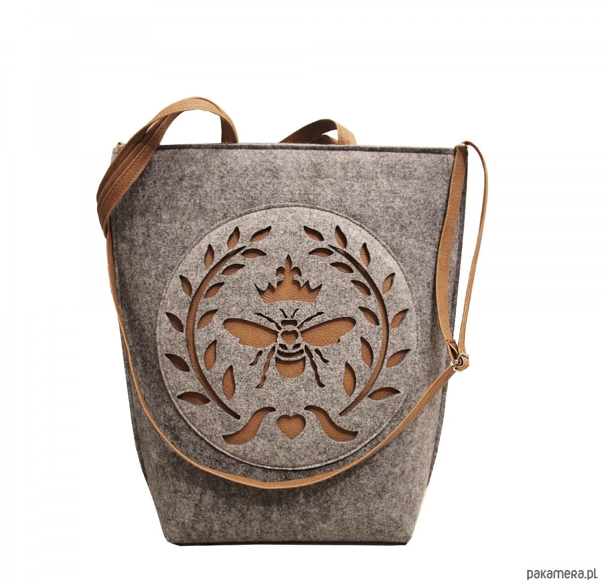 32fa85e77bf93 shopper bag folk mucha - torby XXL - damskie - Pakamera.pl