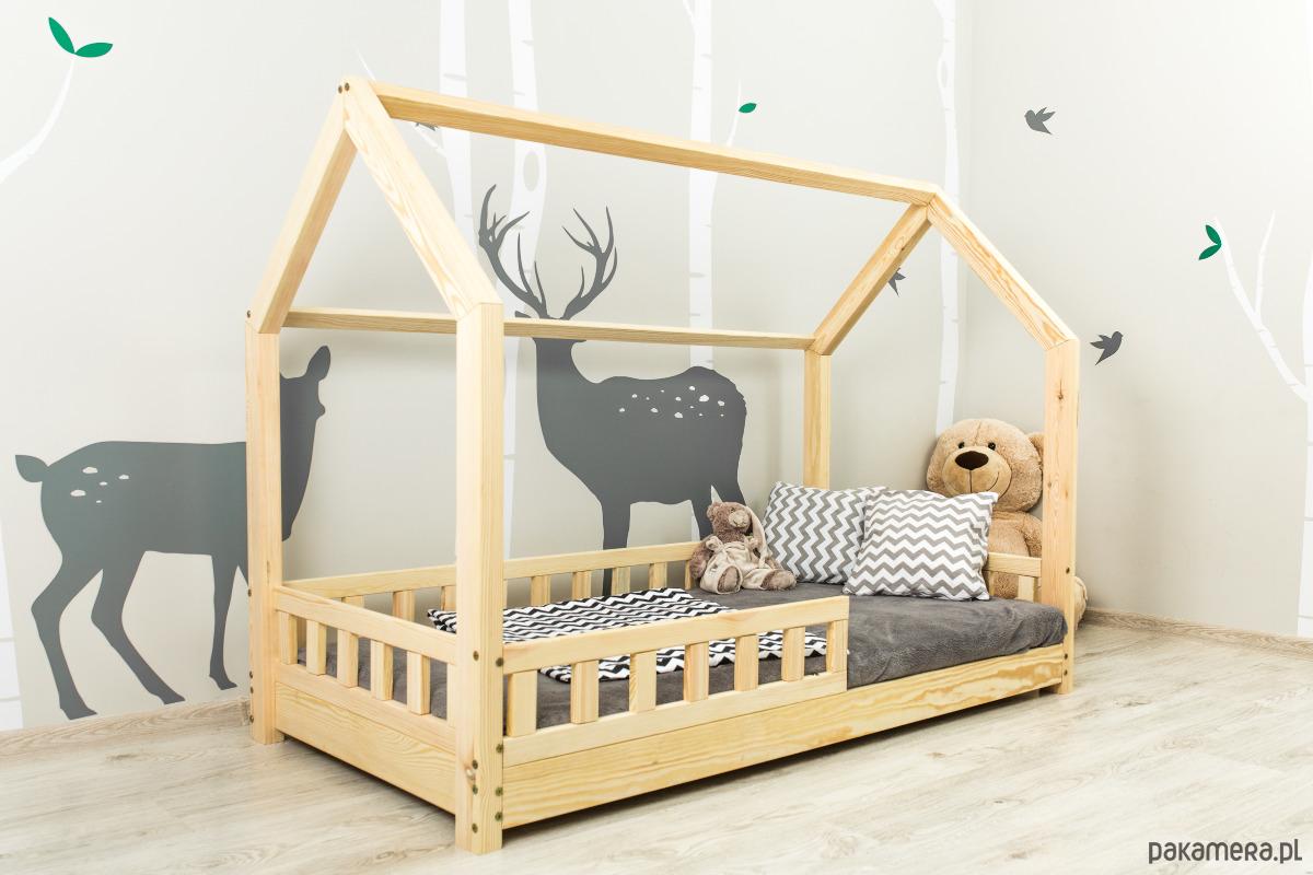 łóżko Domek Dla Dzieci Barierki Skandynawski Pokój Dziecka Meble