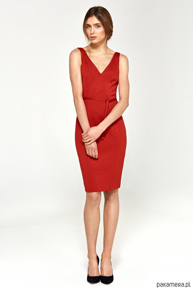 Sukienka z dekoltem na plecach s94 - czerwony
