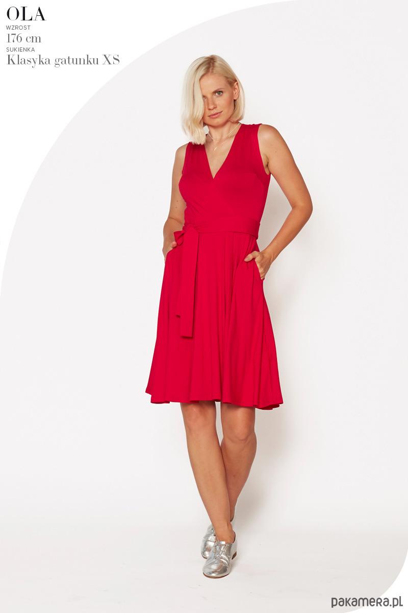 Sukienka Klasyka Gatunku malinowa