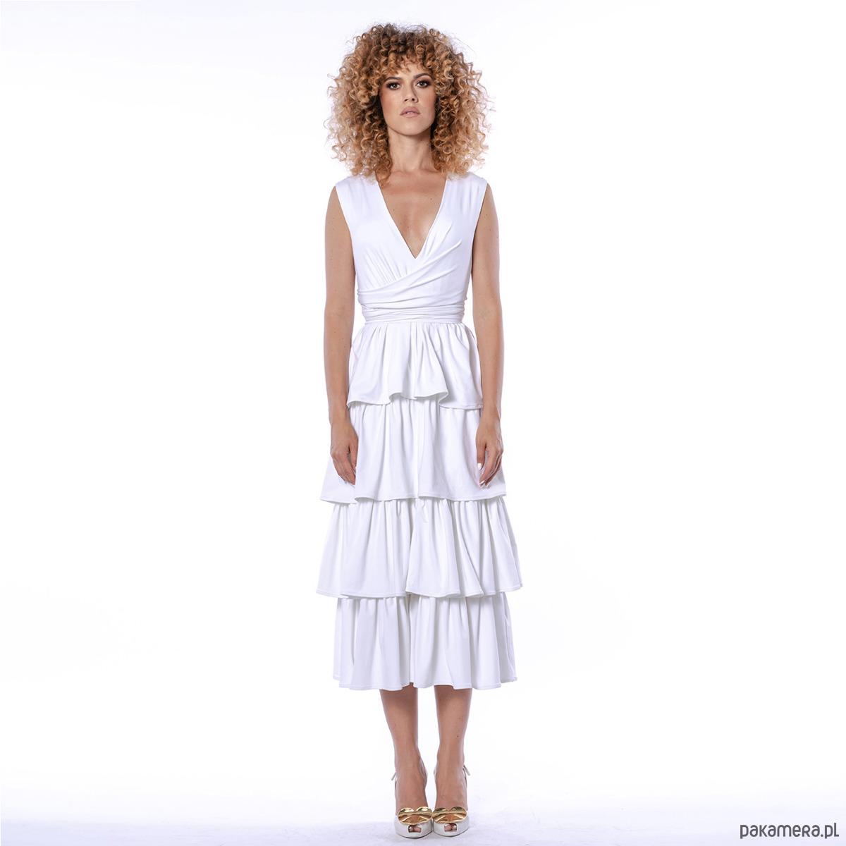 Biała sukienka Carmelita