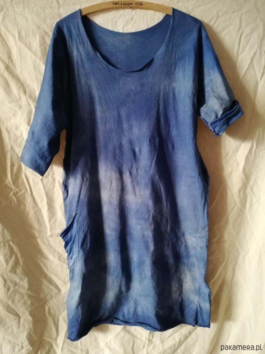 sukienka/tunika farbowana