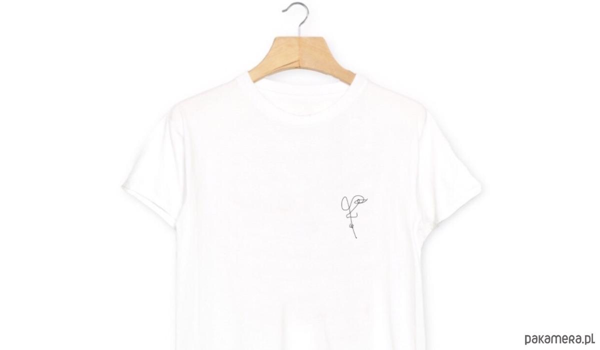 twarz T-Shirt Koszulka Biała Czarna