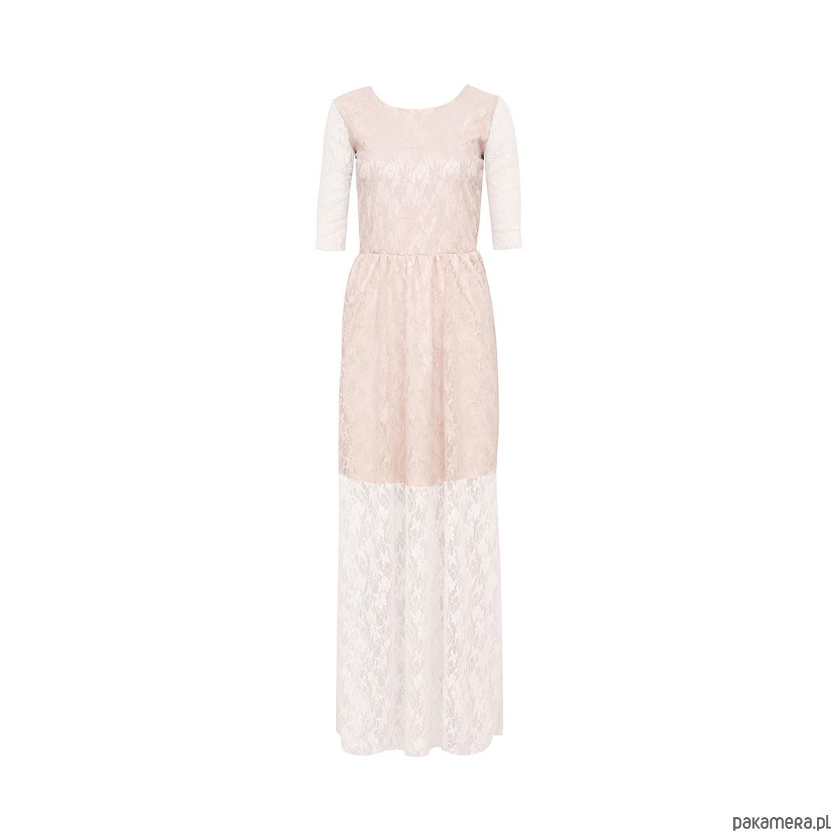 Sukienka pastelowa różowa maxi