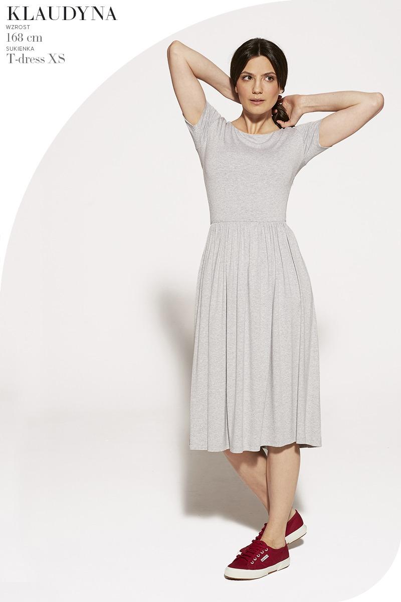 sukienka midi T-DRESS melanż
