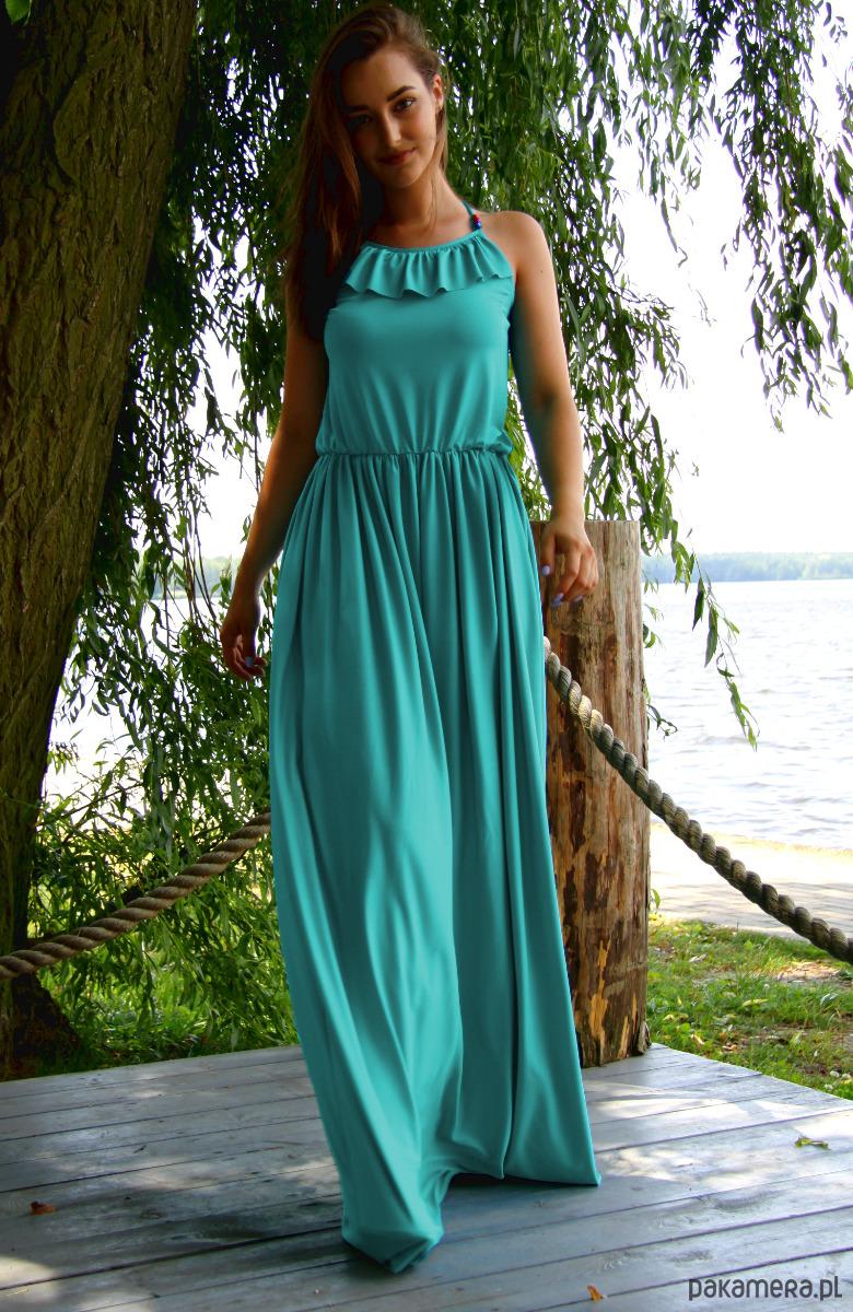 Sukienka Maxi Venus Turkusowa