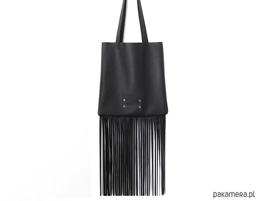 9b10c61667ae3 Torba z długimi frędzlami skóra naturalna - torby na ramię - damskie ...