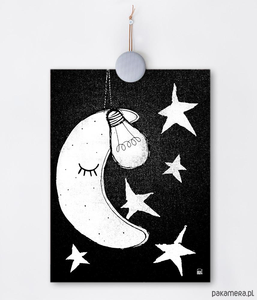 Plakat Do Pokoju Dziecięcego Księżyc Gwiazdki Pakamerapl
