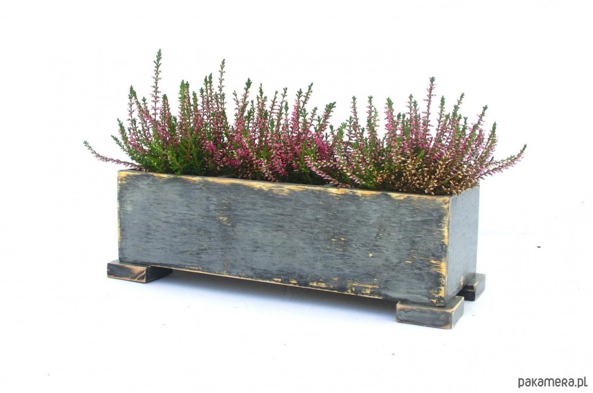 Drewniana Skrzynka Na Kwiaty Zioła Pakamerapl