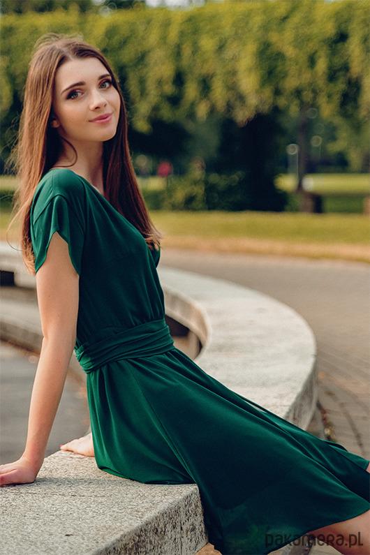Sukienka kopertowa FOREVER YOUNG - zielona