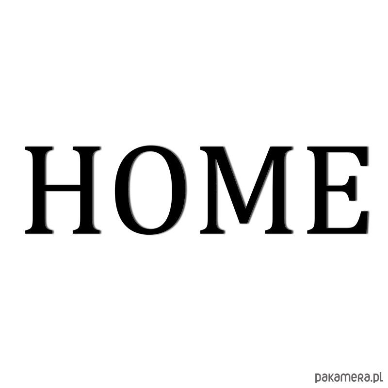 Napis Na ścianę 3d Home Osobne Litery Czarny Pakamerapl