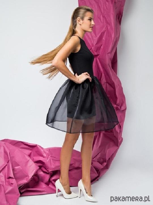 Czarna sukienka z dżerseju