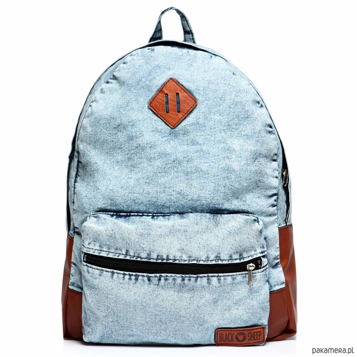 d3def8f60330c Plecak vintage damski jeansowy marmurkowy worek - plecaki - Pakamera.pl