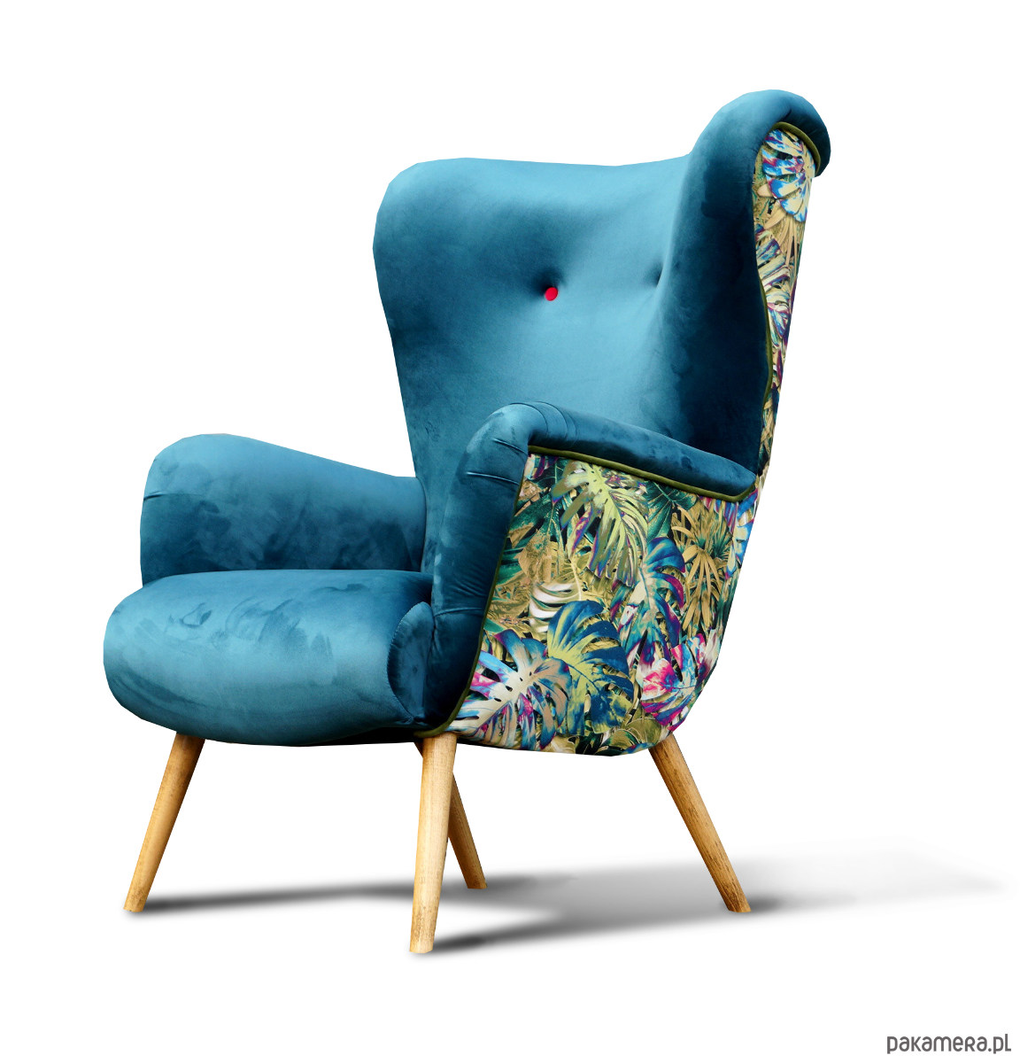 Fotel Uszak Skandynawski Nowoczesny Lata 50 Meble Fotele