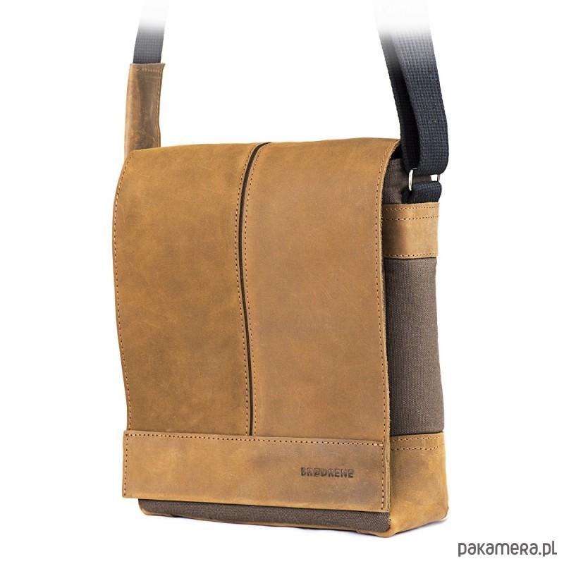 df459111af218 akcesoria - torby i nerki - męskie-Jasno brązowa saszetka męska na ramię