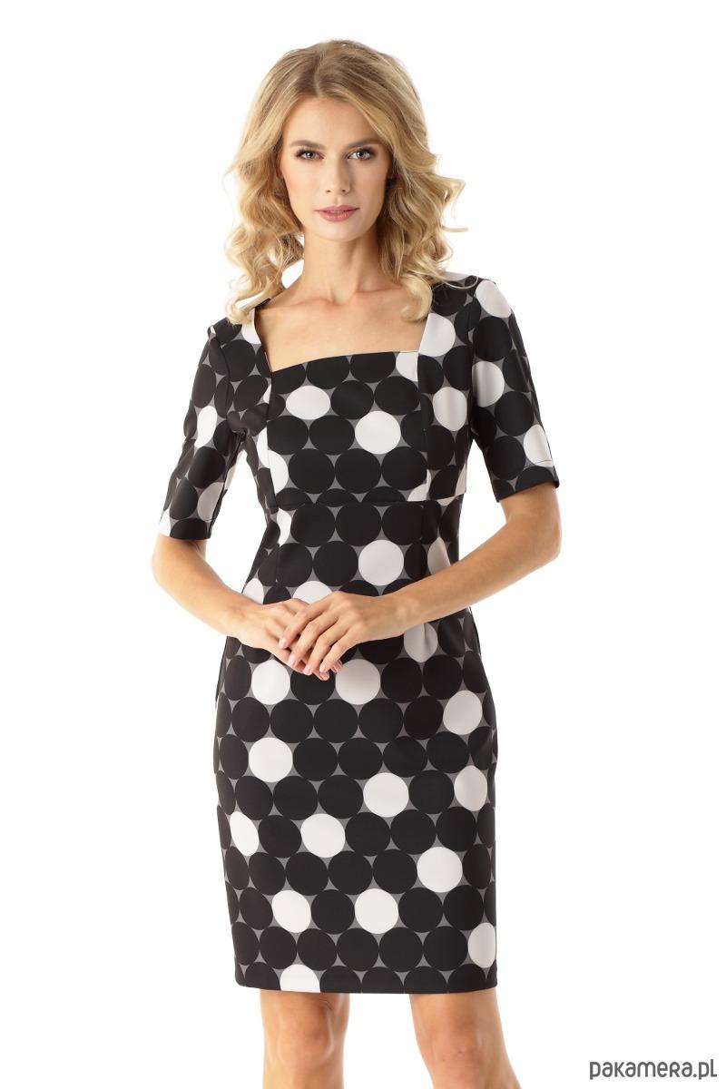 c381e164ca Dopasowana sukienka z kwadratowym dekoltem Roxie - sukienki - mini ...