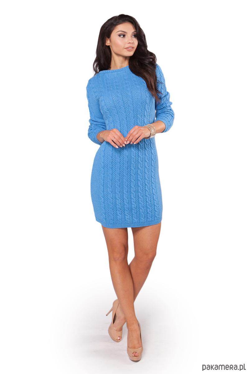 Sukienka S106 NIEBIESKI