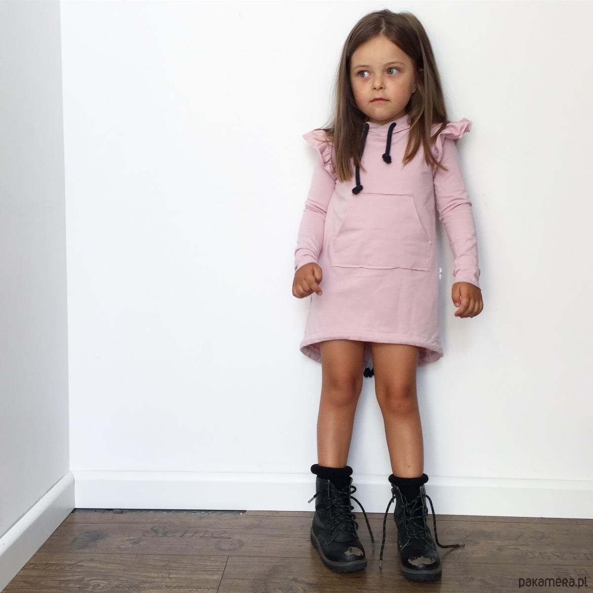 673407a337 Sukienka różowa pudrowa - dziewczynka - sukienki - Pakamera.pl