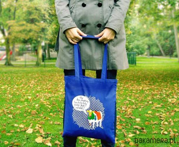 fcad59d264531 Eko torba Talking Cow - królewski błękit - torby na zakupy - damskie -  Pakamera.pl