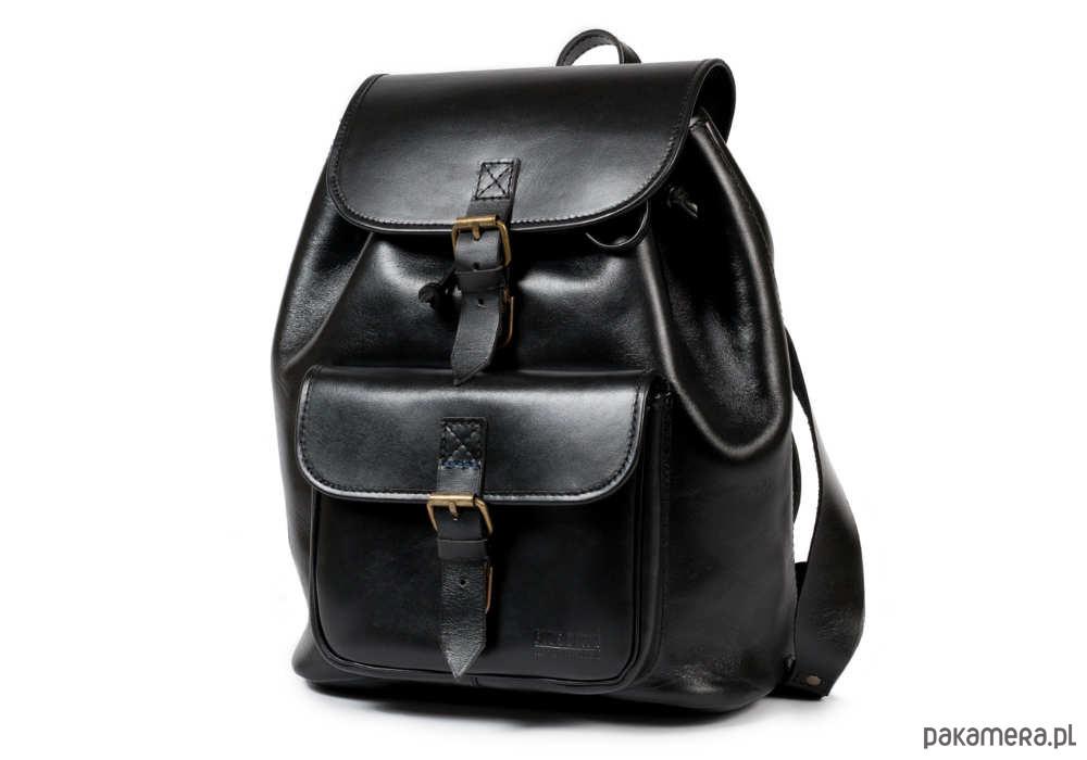 2975d3dfb77d2 Plecak skórzany ręcznie szyty czarny A4 - plecaki - Pakamera.pl