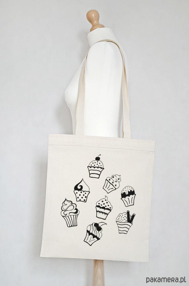 48b2bb9a9da60 Eko torba na zakupy bawełniana MUFFINKI - torby na zakupy - damskie -  Pakamera.pl