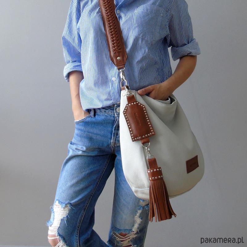 877d520053f8d torby na ramię - damskie-Torba torebka skórzana BAGBOHO listonoszka duża