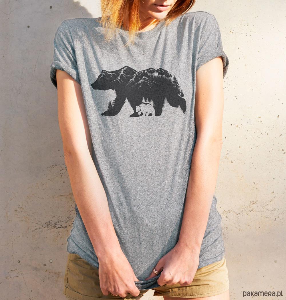 Koszulka damska - NIEDŹWIEDŹ BRUNATNY