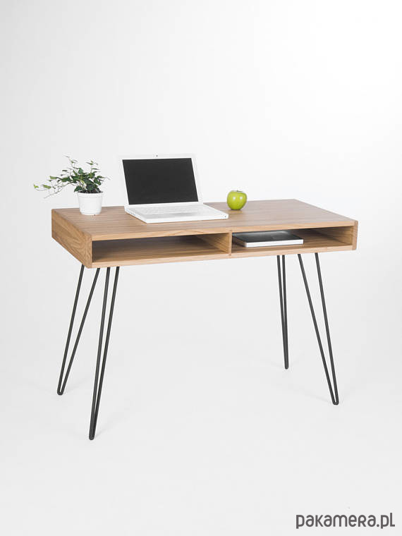 Najnowsze Biurko drewniane dębowe na stalowych nogach - meble - biurka EI29