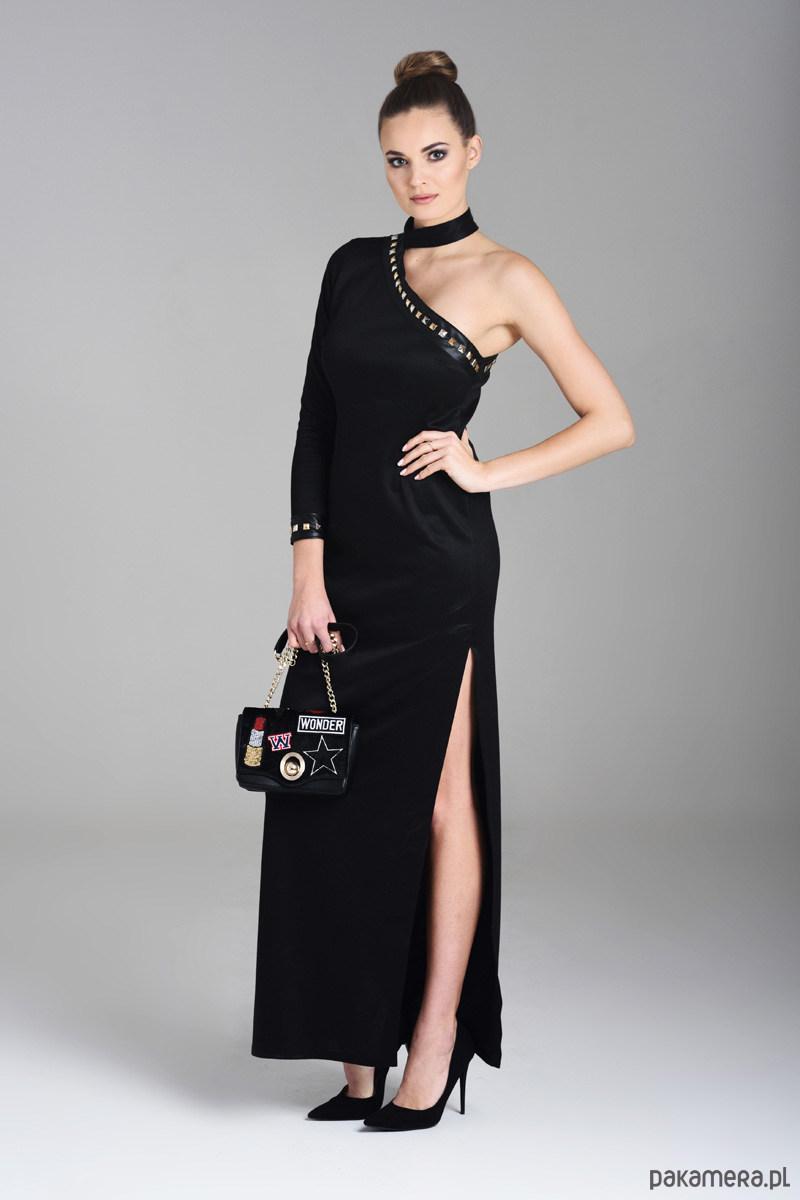 ebf5933571 Samantha czarna wieczorowa sukienka maxi - sukienki - maxi - Pakamera.pl