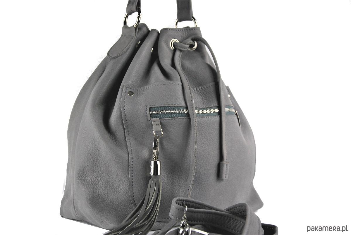 d769307575587 Skórzana torba typu worek XL - qualityart - torby na ramię - damskie -  Pakamera.pl
