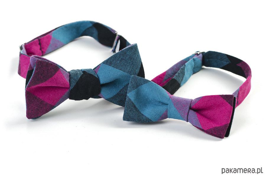d14c9af9368f35 akcesoria - muszki & krawaty-KOMPLET DLA TATY I SYNA Mucha wiązana RUBI ...