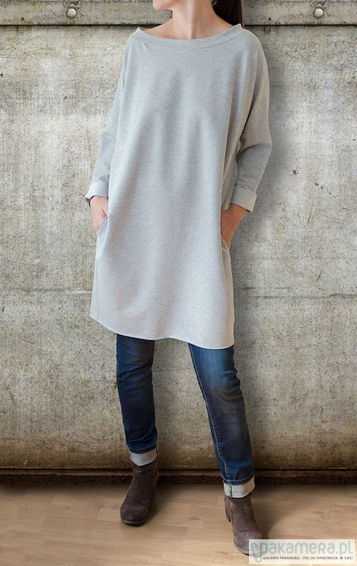 Sukienka MINI - szary dres