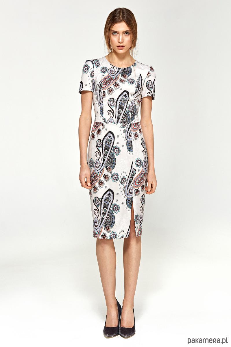 Sukienka z krótkim rękawem s97 - wzór