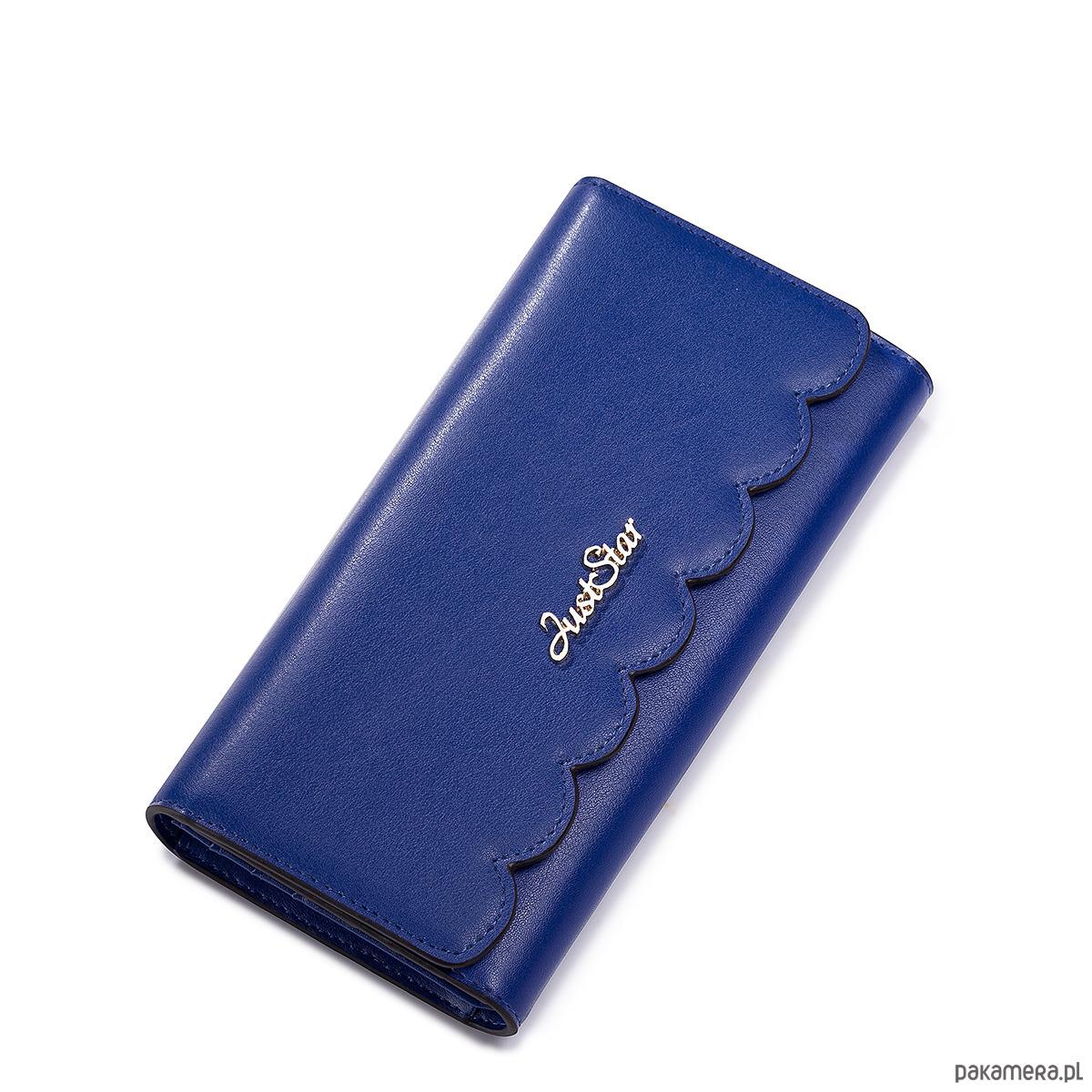 9e8aaea8c6cd3 JUST STAR szykowny portfel skórzany Niebieski - portfele - damskie ...