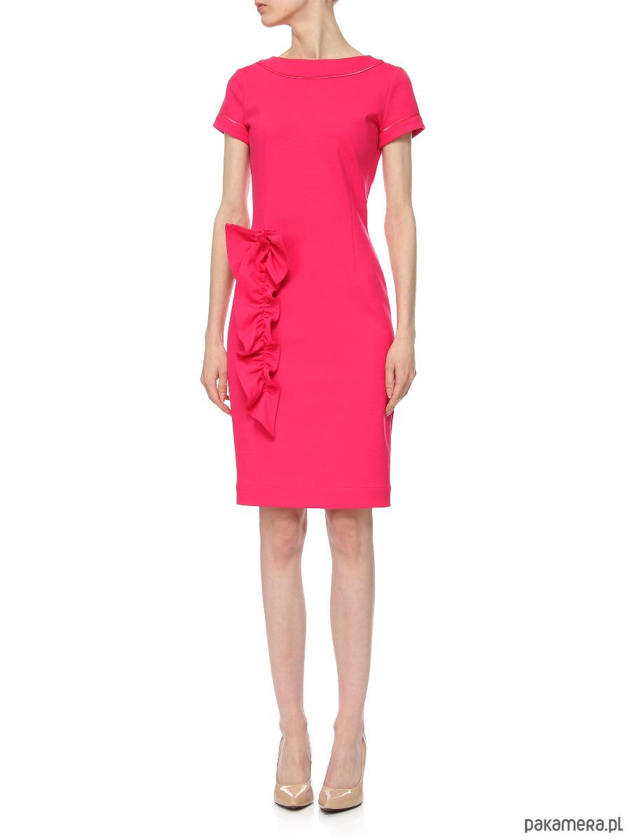 Sukienka różowa YB100114_RAL3017