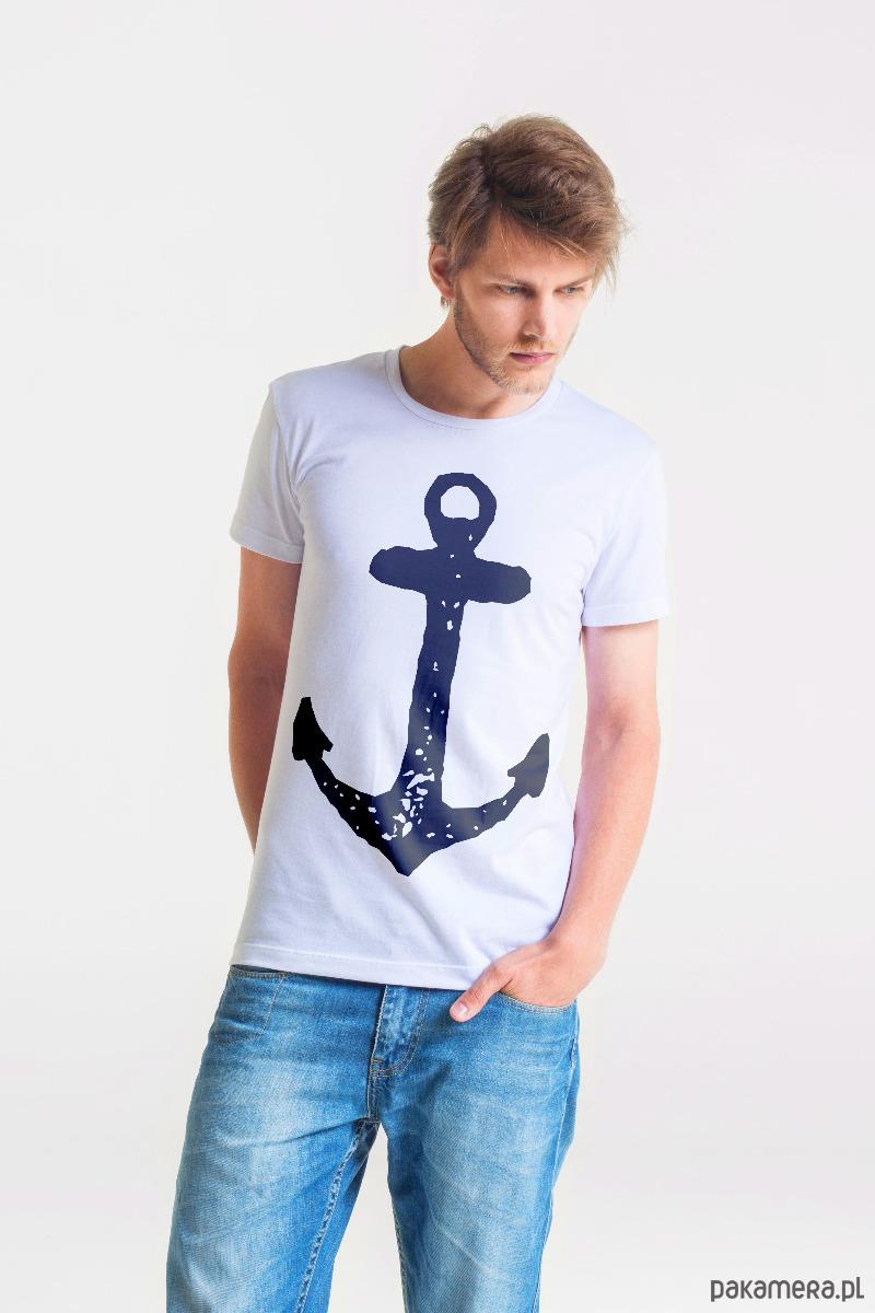 ANCHOR - MęskI T-shirt BIAŁY - 2040348