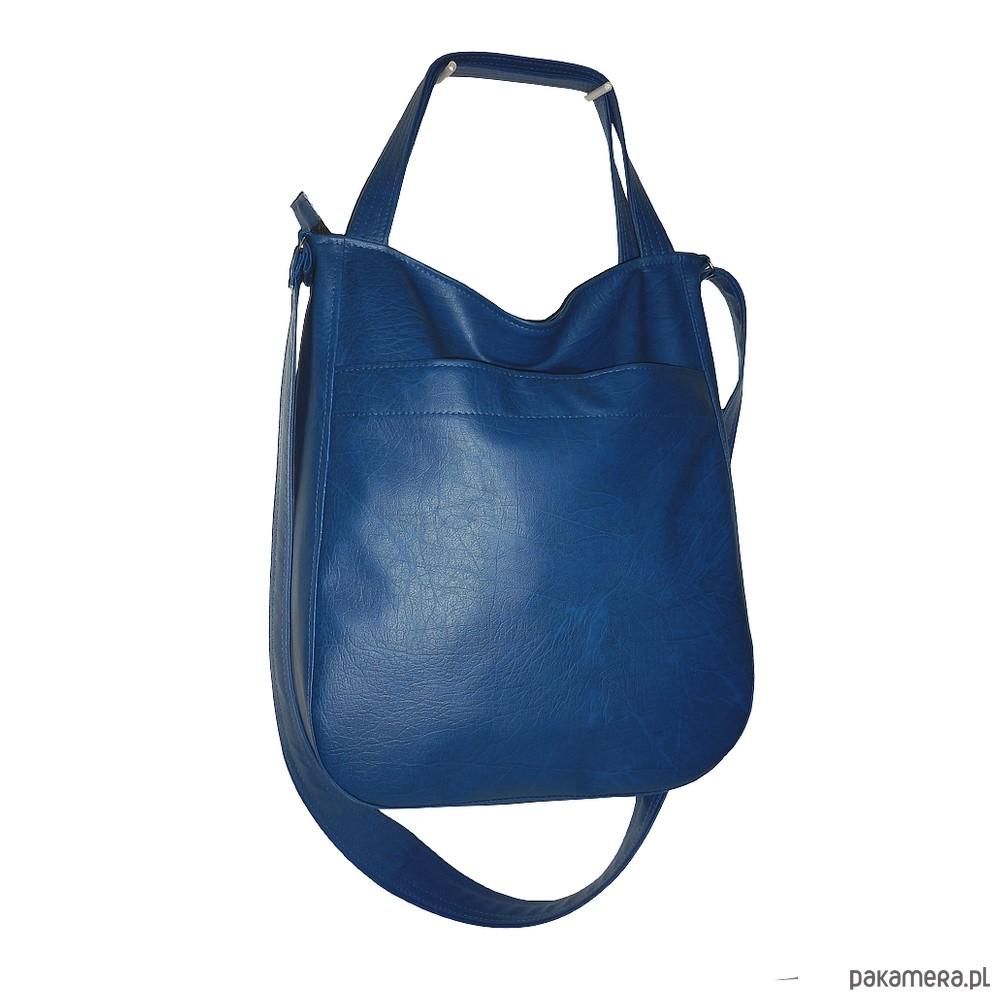 02cbd4a14d624 torby na ramię - damskie-Granatowa damska torba 3w1, listonoszka worek