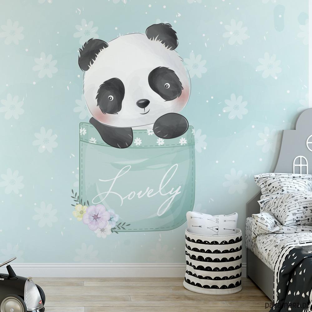 Naklejki Scienne Kieszonkowa Panda Pokoj Dziecka Naklejki