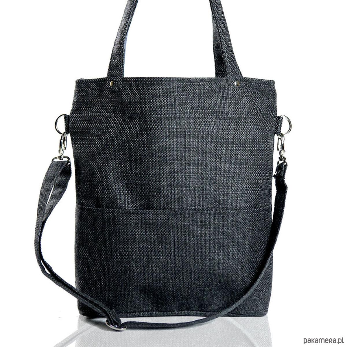 fa7be99e13a97 Prostokątna torba w kolorze grafitowym - torby na ramię - damskie ...