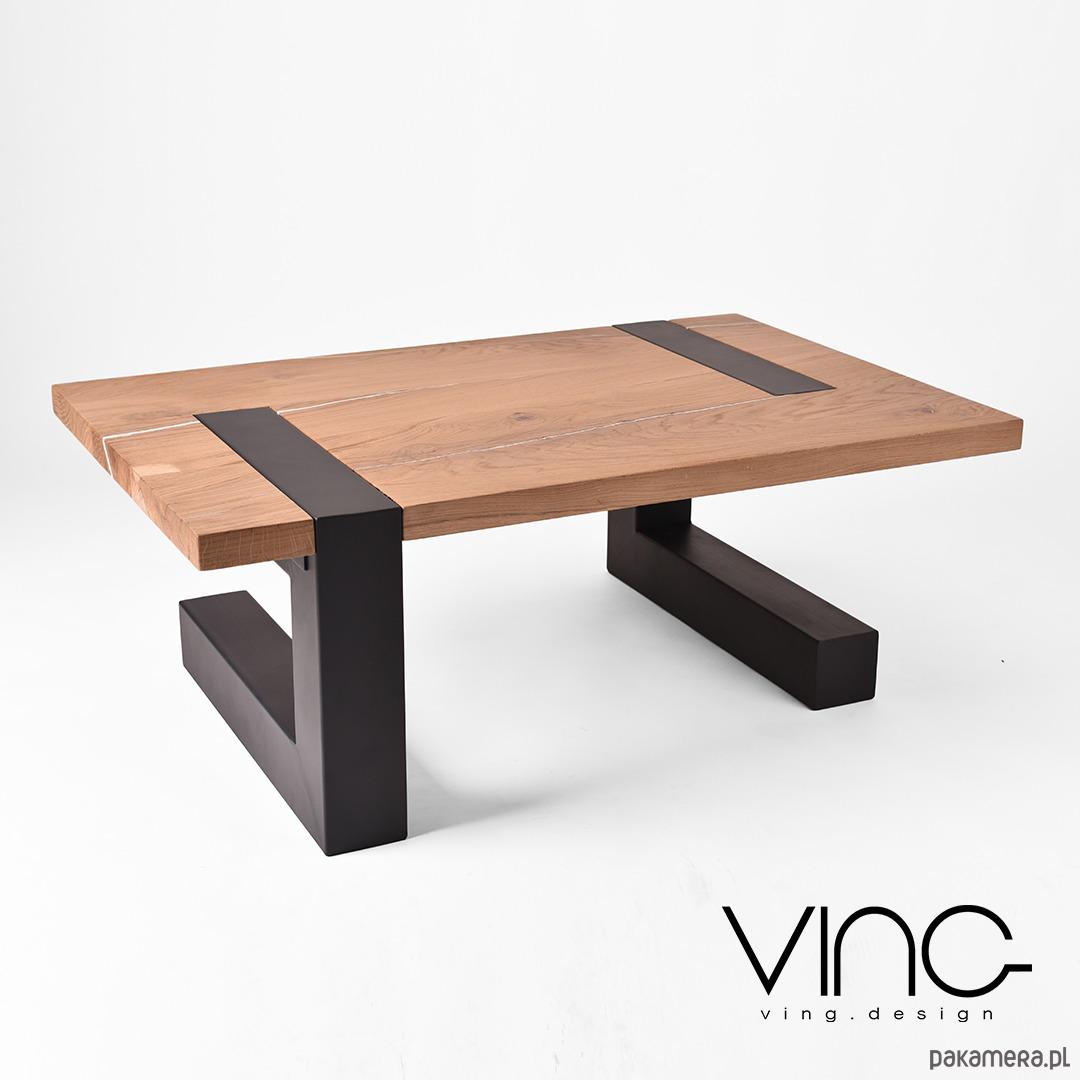 Zaawansowane Stolik kawowy lity dębowy Drewno Design Loft Dąb - meble - stoły i RU92