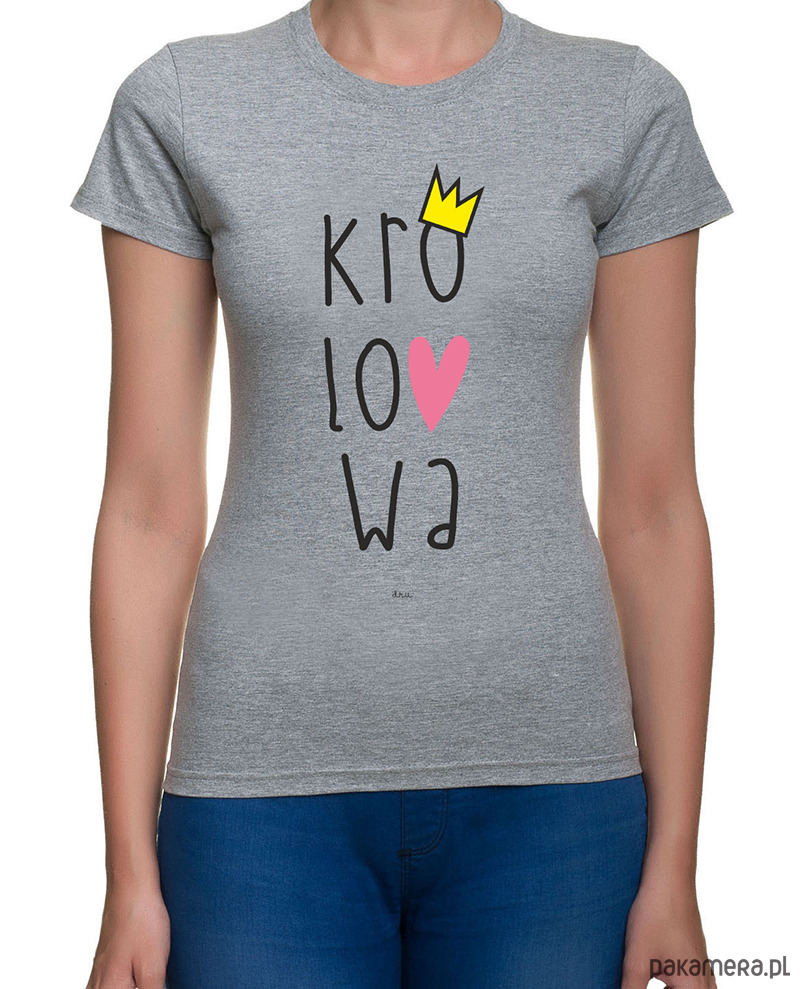 koszulka damska. królowa