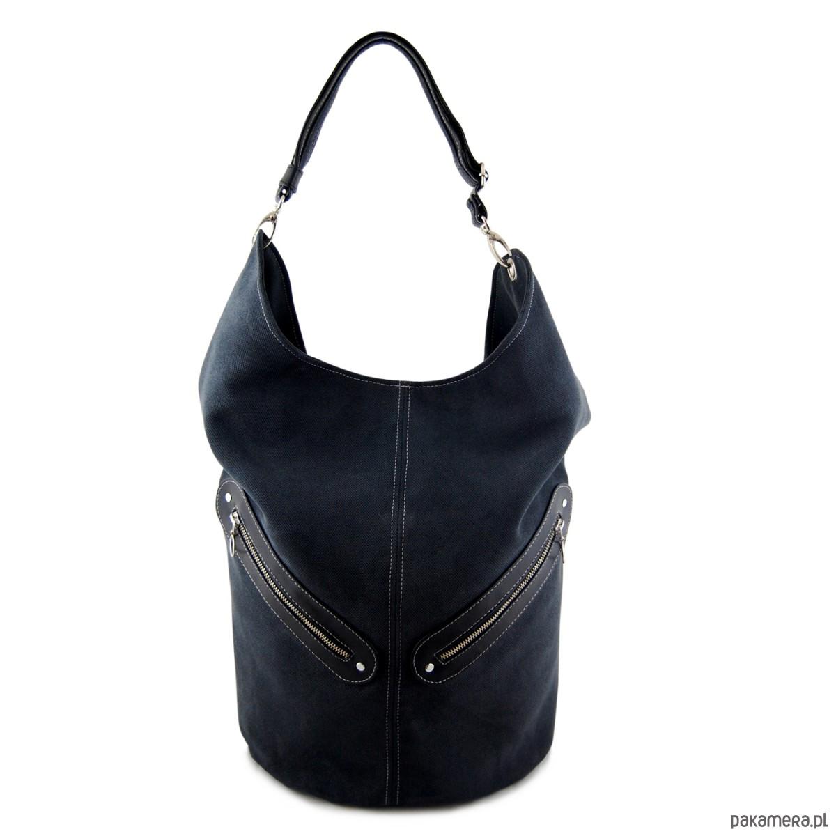 5624aff120501 KOFI - duża torba worek - czarna - torby na ramię - damskie - Pakamera.pl