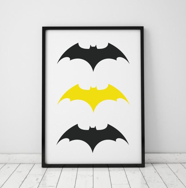 Rewelacyjny PLAKAT, OBRAZEK LOGO NIETOPERZ Batman - dziecko - plakaty, obrazki TG94